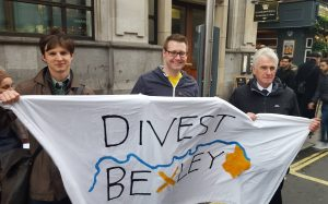 Divest Bexley members with Shadow Chancellor John McDonnell at the Climate March in November 2015